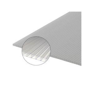 14 plaques alv/éolaires en polycarbonate 4 mm Feuille creuse de polycarbonate claire pour la serre chaude Plaques /à double paroi 60,5 x 121cm Plaques r/ésistantes aux UV et adapt/ées 10,25m/² pour jardin