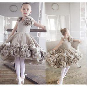 ROBE DE MARIÉE Fleur fille jupe rose jupe robe de danse performan