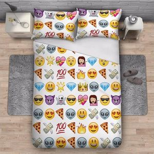 linge de lit emoji achat vente linge de lit emoji pas cher cdiscount. Black Bedroom Furniture Sets. Home Design Ideas