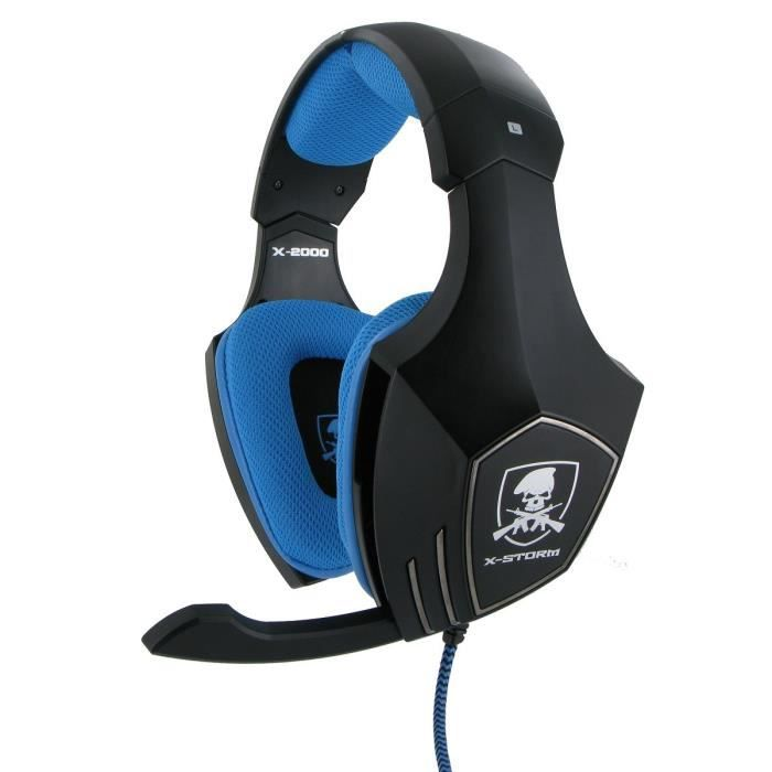 casque x storm x 2000 bleu ps3 ps4 pc xbox 360 achat vente casque microphone casque x. Black Bedroom Furniture Sets. Home Design Ideas
