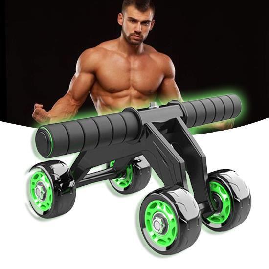 AB Roller Wheel,AB Roller Exercise 4 Roues Roue Musculaire Abdominale avec Genouillère Mat Core Entraîneurs Abdominaux