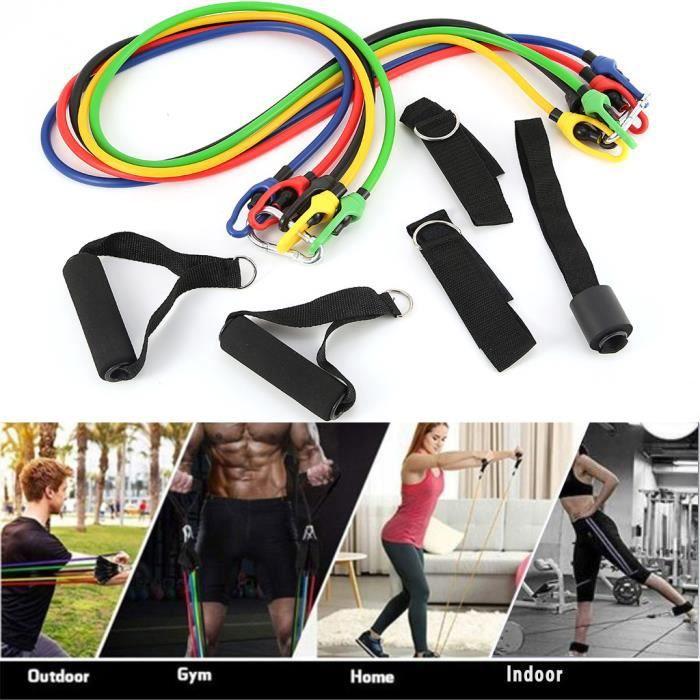 11 pcs - ensemble caoutchouc naturel Latex Fitness bandes de résistance exercice élastique Pul wv2906