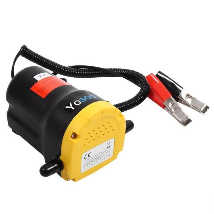 INGSHOP© 12V Pompe d'extracteur de transfert fluide d'huile diesel aspiration électrique pour bateau moto voiture