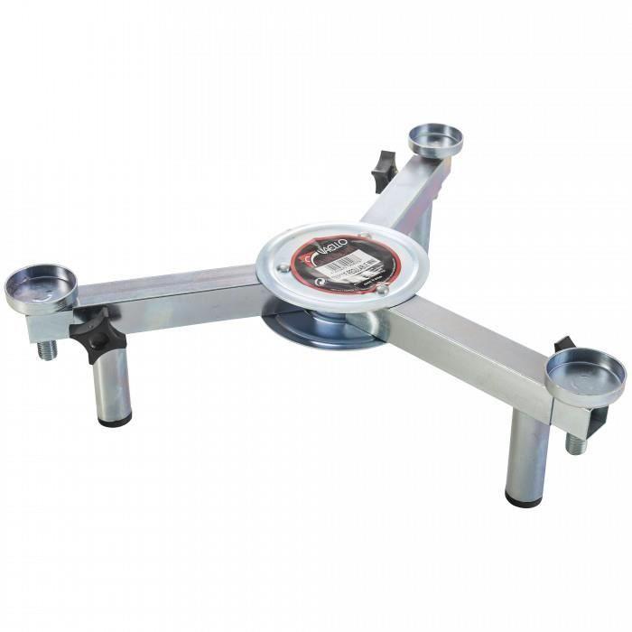 Mini trepied reglable de table pour rechaud a paella. Ce mini trepied permet d'installer un rechaud a paella sur une ta
