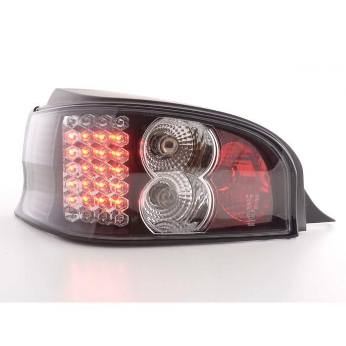 LED Feux arrieres pour Citroen Saxo (type S/S HFX / S KFW) An 96-02, noir