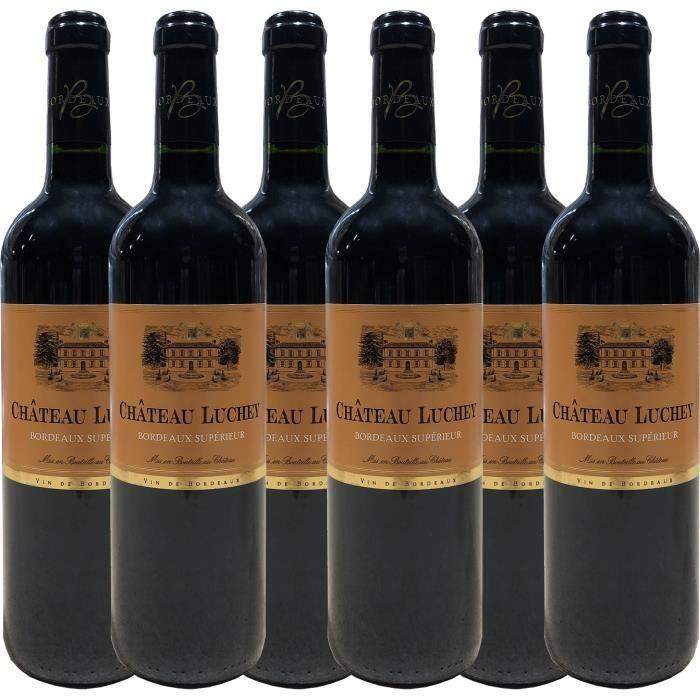 Château Luchey 2018 - vin rouge - Bordeaux Supérieur AOC - lot de 6 bouteilles.