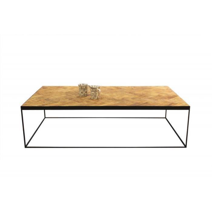 Table basse rectangulaire en teck - ANNA/L