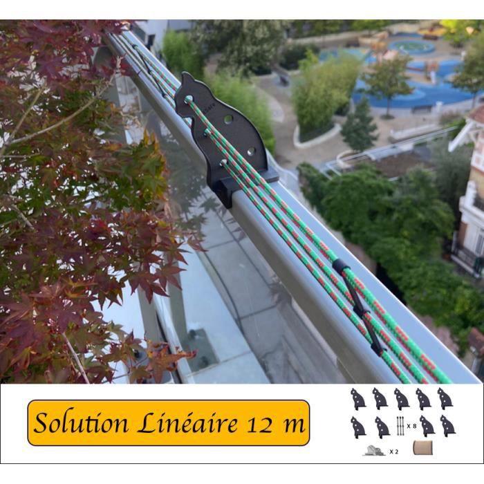 Protection pour balcons et terrasses linéaires de 12m