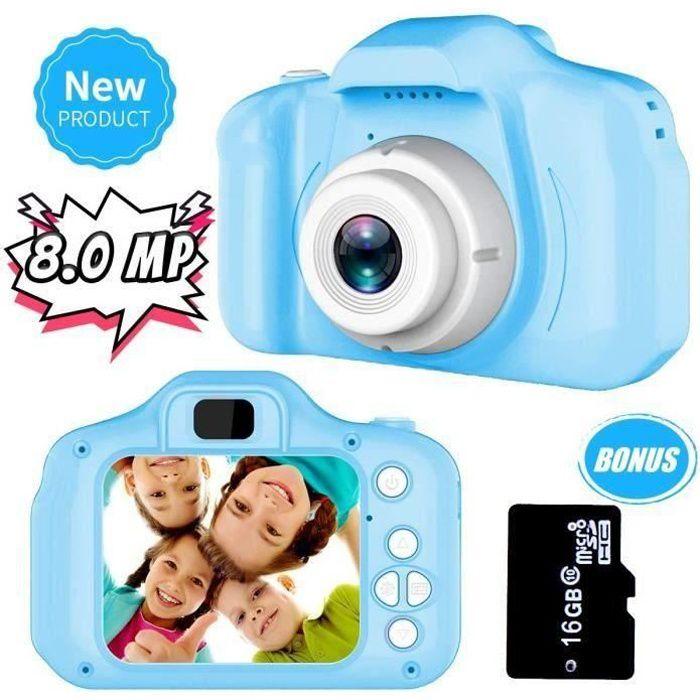 SHAN NetBoat Jouets 3-8 Ans Garçons Joy-Fun Appareil Photo Enfants 8.0 MP Appareil Photo Numerique Enfant Vidéo Record Électronique
