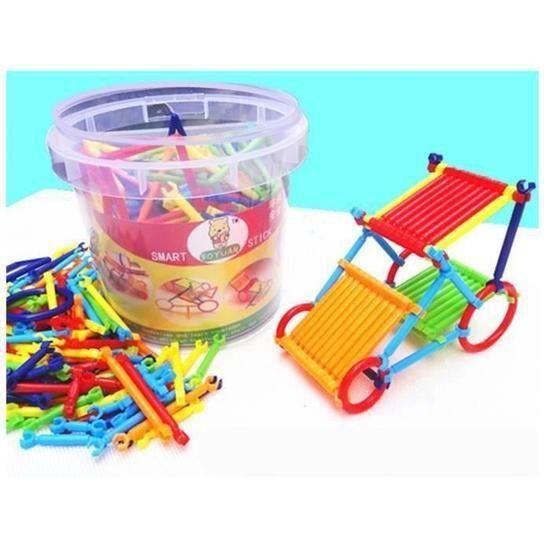 Bâtons Plastiques de Construction 3D Enfants Blocs de Construction Jeu de Construction @YC