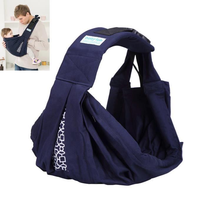 Echarpe de portage avec Boucle de sécurité Echarpe de portage Multifonctionnel Coton - Bleu ZS7906