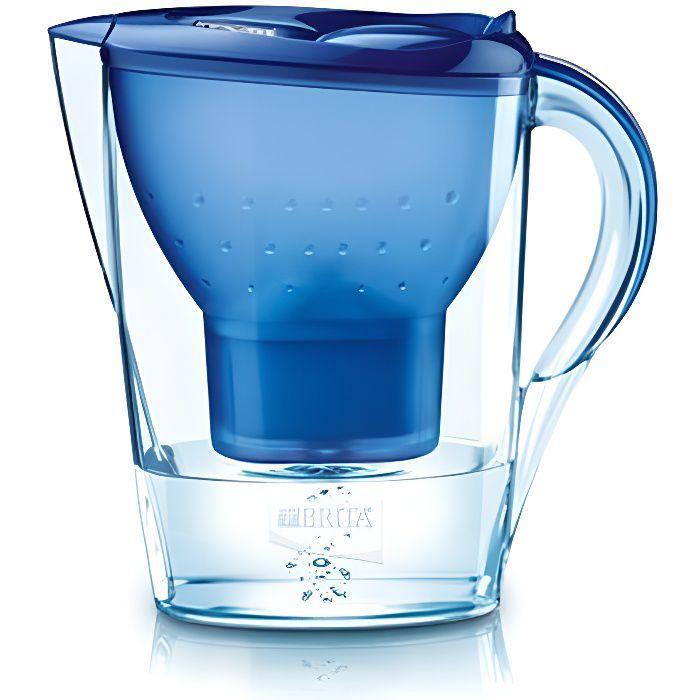 Brita Marella Cool. Volume: 2,4 L, Couleur du produit: Bleu. Largeur: 256 mm, Profondeur: 104 mm, Hauteur: 258 mm