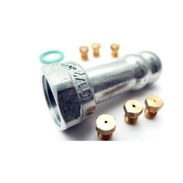 JEU D'INJECTEURS GAZ NATUREL POUR CUISINIERE FAGOR 7205405 - * CCIA02870 95X2766 - 4CF-40PTBUT - 9 - BVMPièces