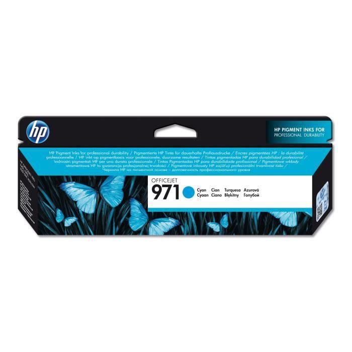 HP Cartouche d'encre 971 - 2500 pages - Pack de 1 - Cyan