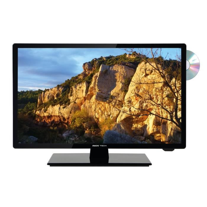 INOVTECH Téléviseur LED HD ultra compact 18,5'' + DVD