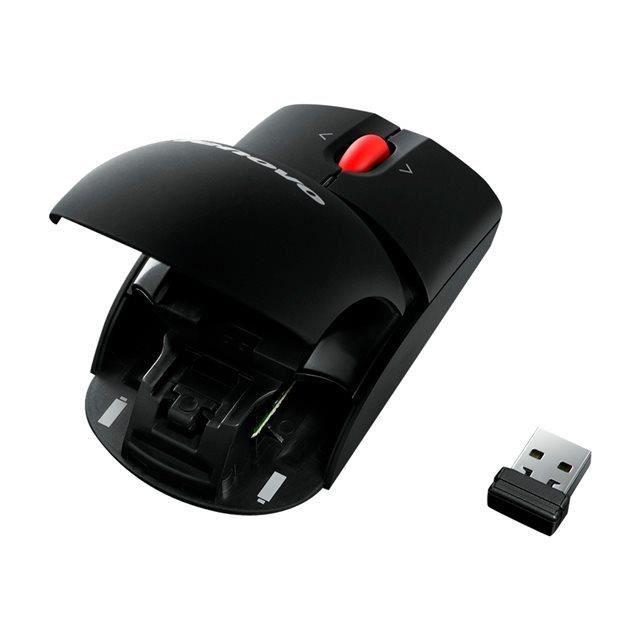 LENOVO Souris Laser 0A36188 - Fréquence radio - USB - Sans fil - 2,40 GHz - 1600 dpi - Roulette inclinable - Symétrique