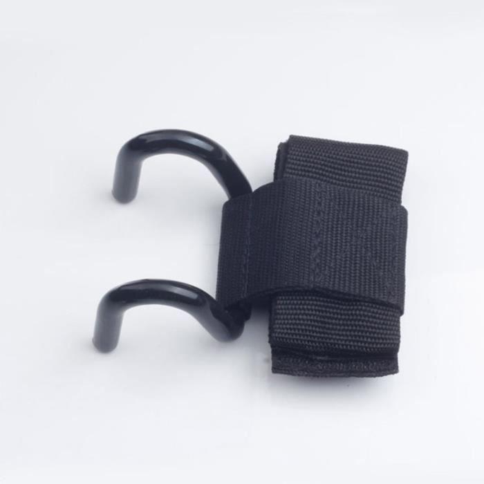 1 paire de musculation pour haltérophilie à crochets de formation pour le gymnase (noir) BRACELET DE FORCE