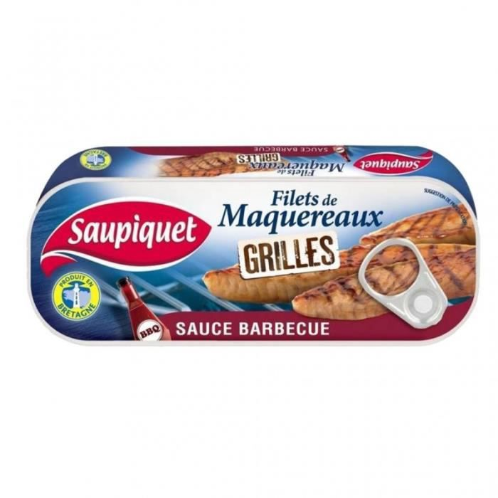 Saupiquet Filets de Maquereaux Grillés Sauce Barbecue 120g (lot de 5)