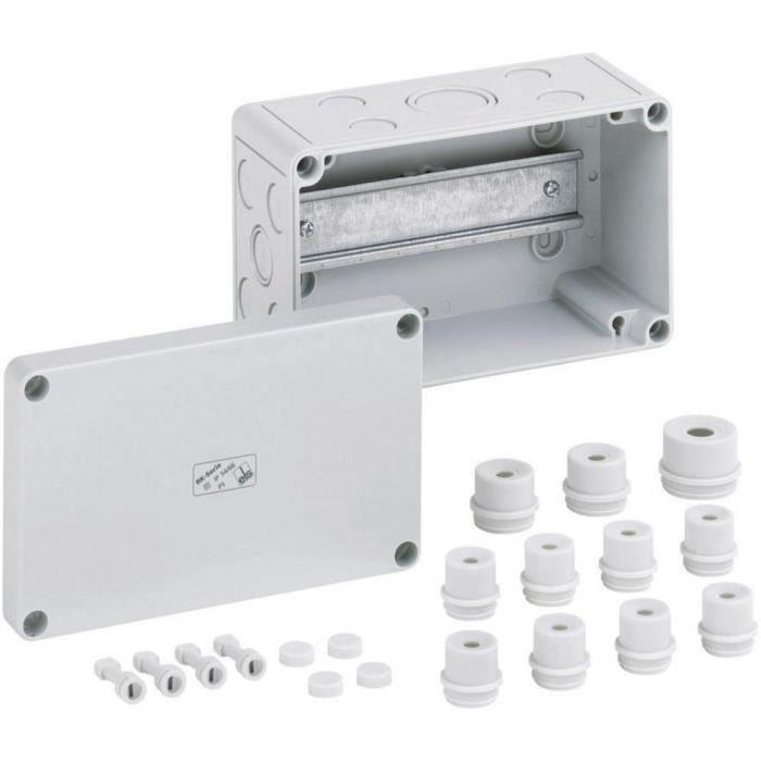 Boîtier pour bloc de jonction Spelsberg RK 4/07-L 61990701 gris 110 x 110 x 90 Polystyrène expansé (EPS) 1 pc(s)