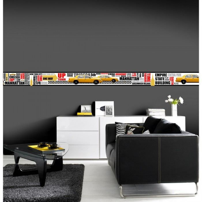 frise murale adh sive. Black Bedroom Furniture Sets. Home Design Ideas