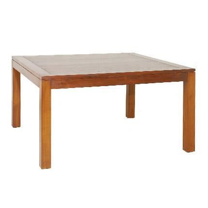 Madrid table manger carr e acacia 140 cm achat vente table manger madrid table manger Dimension table a manger