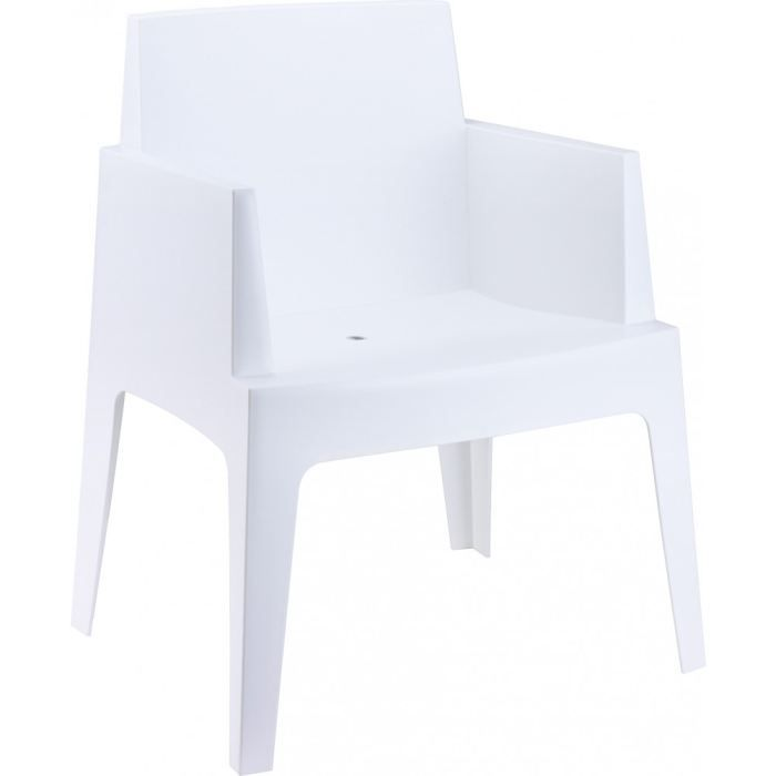 cubik blanc chaise de jardin design en plastique achat vente chaise fauteuil jardin. Black Bedroom Furniture Sets. Home Design Ideas