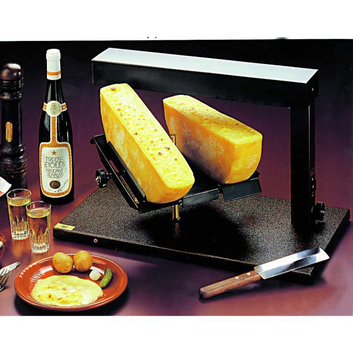 appareil raclette 1 2 meule double fromage bron achat. Black Bedroom Furniture Sets. Home Design Ideas