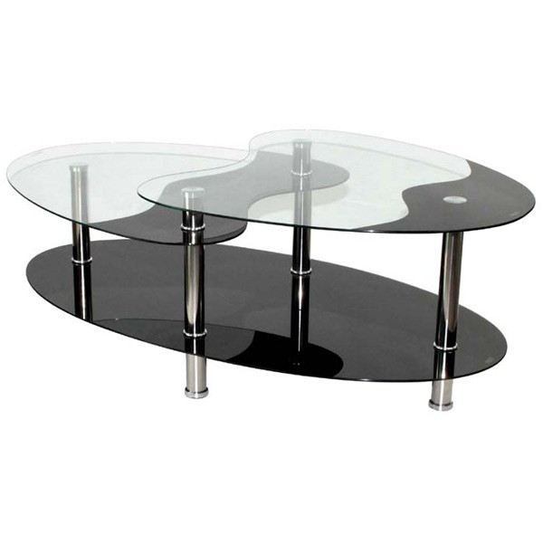 table basse noire en verre 3 plateaux achat vente table basse table basse noire en verre. Black Bedroom Furniture Sets. Home Design Ideas