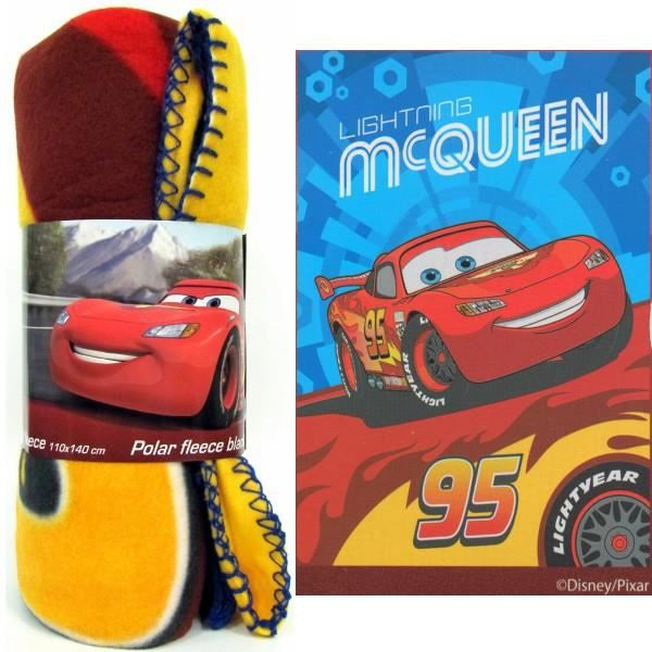 Cars Flash McQueen plaid couverture polar 120x150 cm fleece blanket Disney
