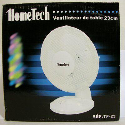 VENTILATEUR Ventilateur de table 23 cm blanc HOMETECH