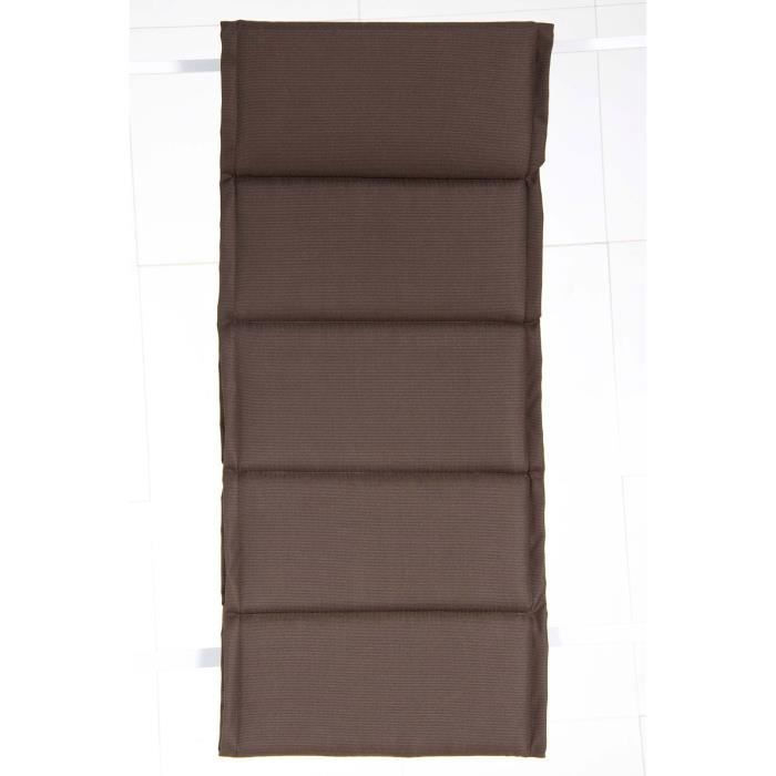 coussin pour fauteuil de jardin chocolat 110 x 45 cm. Black Bedroom Furniture Sets. Home Design Ideas