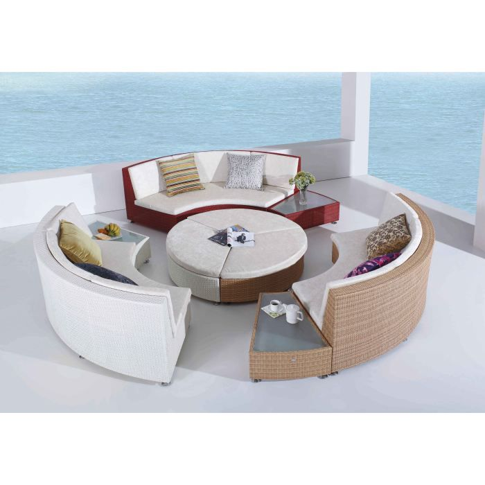 salon de jardin rilasa rond modulable multicolore achat. Black Bedroom Furniture Sets. Home Design Ideas
