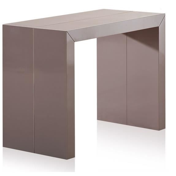 Table console extensible laqu e taupe charly achat vente console extensib - Console extensible cdiscount ...