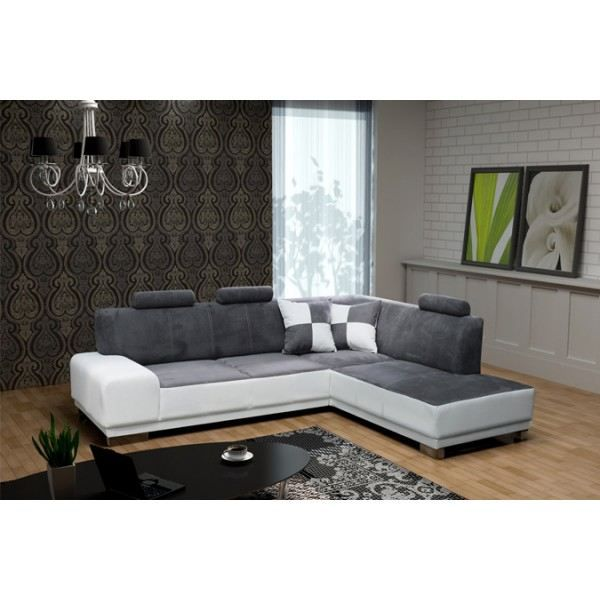 canap d 39 angle 5 places atlas avec t ti res ang achat vente canap sofa divan cdiscount. Black Bedroom Furniture Sets. Home Design Ideas