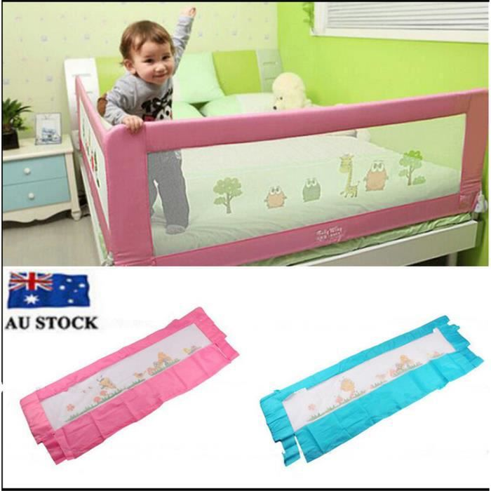 150 cm barri re de lit enfants s curit protection rose achat vente barri re de lit b b - Barriere protection lit enfant ...