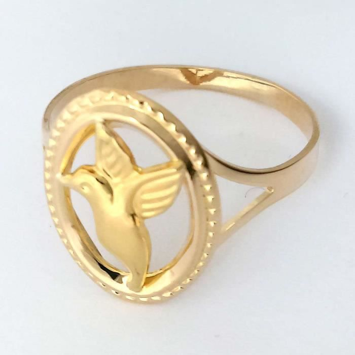 DIAMANTLY Bague or 750 colibri