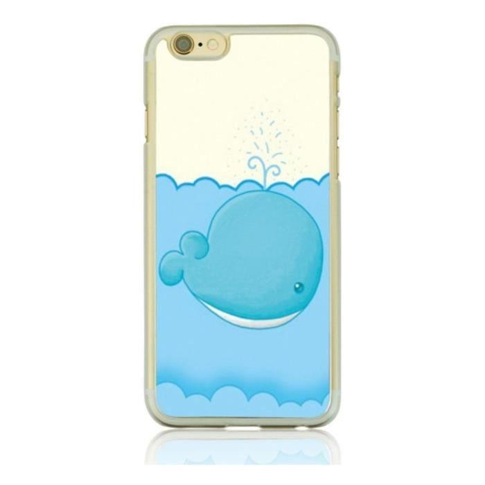 Coque iPhone 6s et 6 fantaisie cool baleine, Fanta