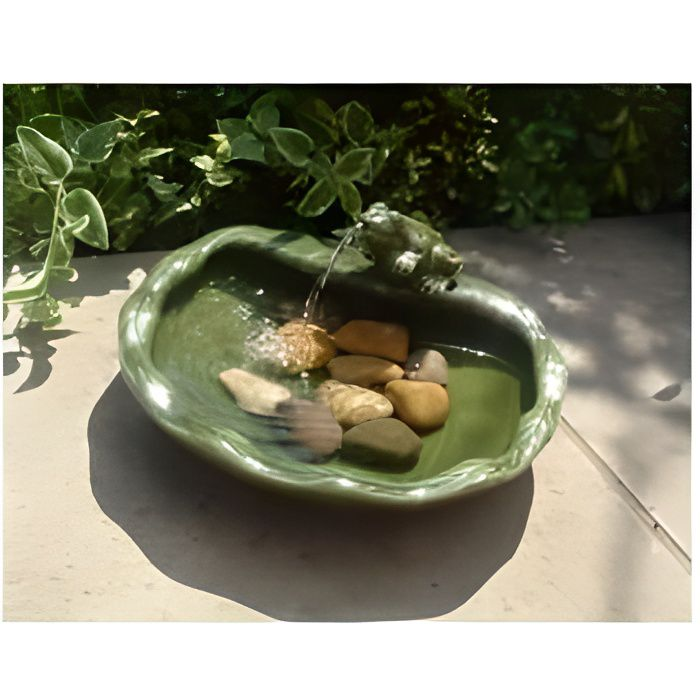 Fontaine solaire grenouille ceramique emaillee ... - Achat ...