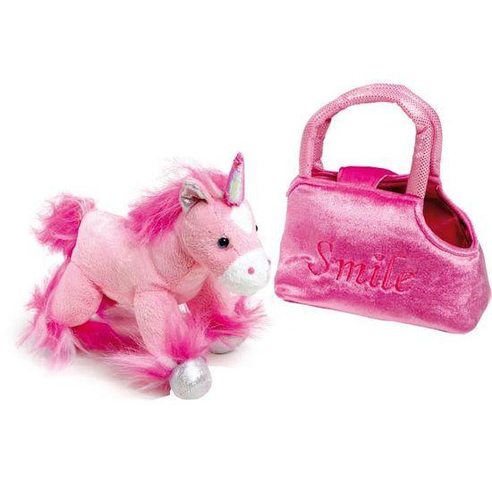 - ASAMIO1517172461953 Rose rose Asamio Sac banane en peluche licorne pour filles
