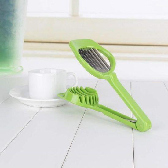 Oeuf Coupe Cutter Oeuf Champignon Salade Déjeuner ustensiles de cuisine Blanc