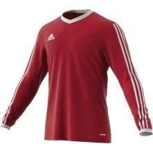 ADIDAS TABE 14 LS JSY T-shirt manches longues junior - Rouge / Blanc