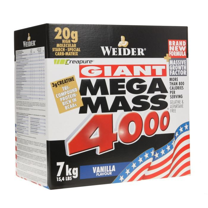 WEIDER MEGA MASS 4000 VANILLE 7 kg NTT