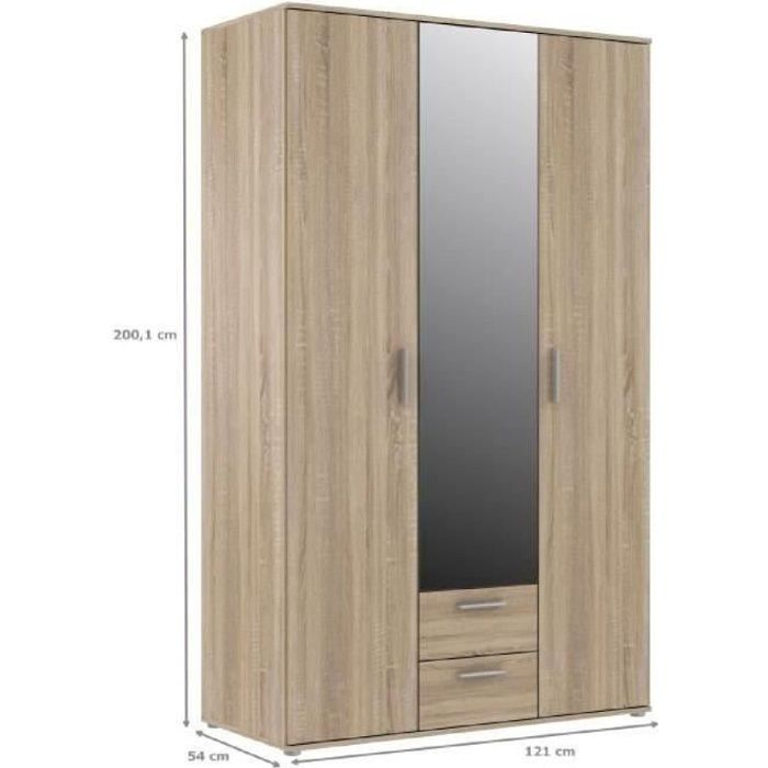 finlandek armoire de chambre selke contemporain d cor. Black Bedroom Furniture Sets. Home Design Ideas