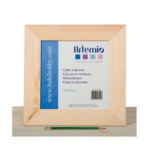 Support à décorer ARTEMIO Cadre en Bois Plat à Décorer 30*30 cm
