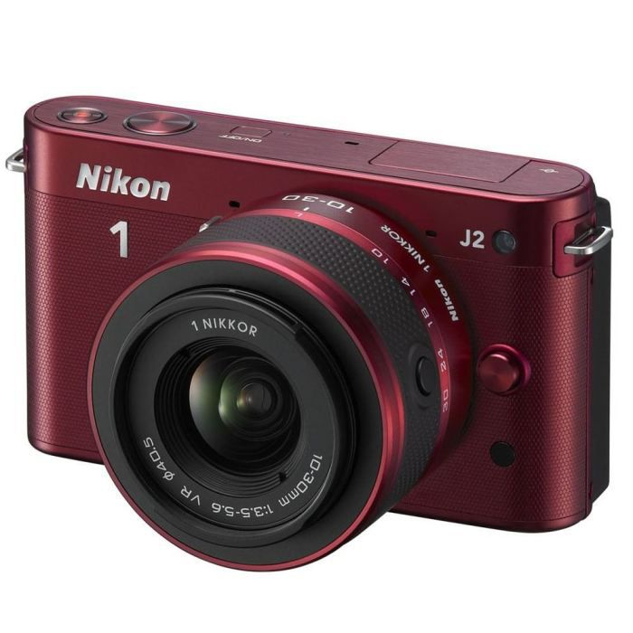 nikon 1 j2 objectif nikkor 10 30 mm rouge achat. Black Bedroom Furniture Sets. Home Design Ideas