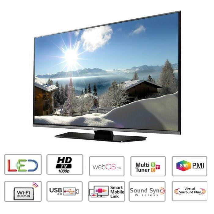 lg 49lf630v smart tv led full hd 123cm 49 t l viseur led avis et prix pas cher cdiscount. Black Bedroom Furniture Sets. Home Design Ideas