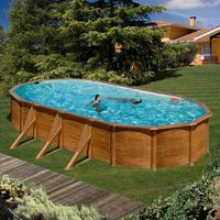 KIT PISCINE  PACIFIC Piscine imitation bois 730 x 575 x 120