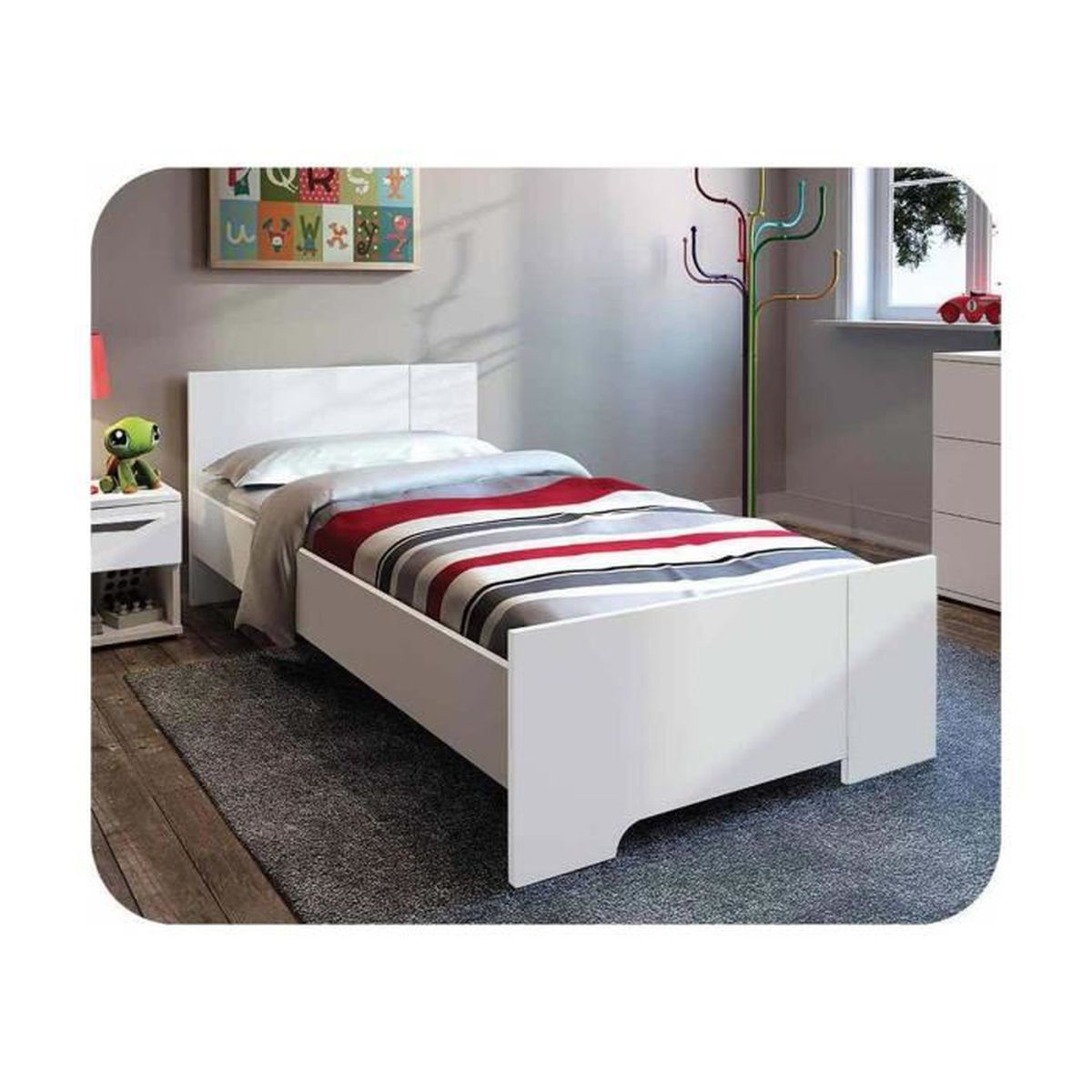 lit enfant jazz 90x190 cm achat vente lit complet lit enfant jazz 90x190 cm cdiscount. Black Bedroom Furniture Sets. Home Design Ideas