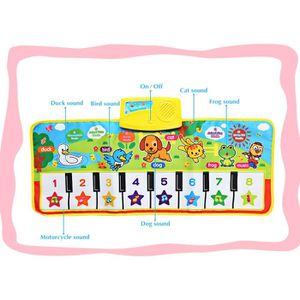 TAPIS DE JEU Tapis de jeu Bébé Musical Cartoon animaux Piano La