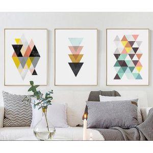 OBJET DÉCORATION MURALE NORDIQUE Géométrique Affiche Impression Scandinave